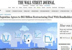 La repercusión del acuerdo con los bonistas en medios internacionales