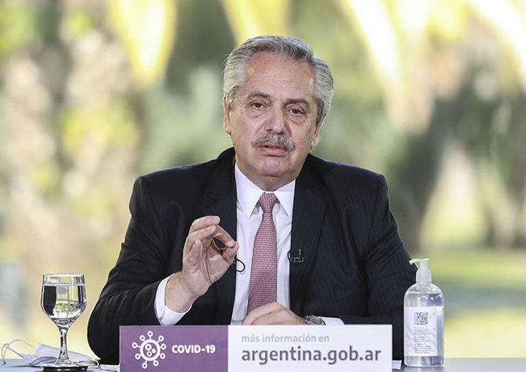 Presidente argentino Alberto Fernández