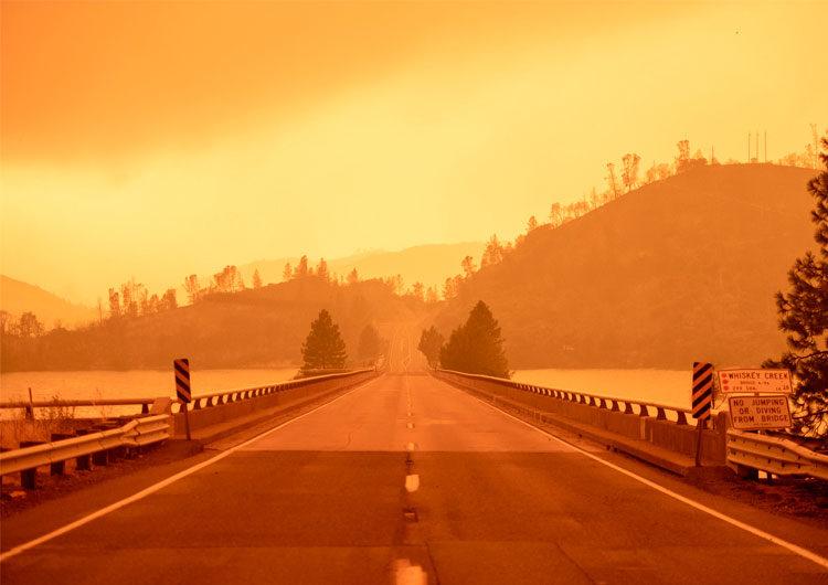 Incendios: fotos 'apocalípticas' retratan los cielos anaranjados de Oregón, EEUU