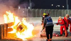 Hamilton gana un accidentado Gran Premio de Baréin