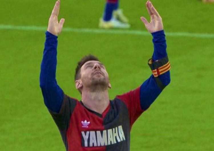 El homenaje «leproso» de Messi a Maradona