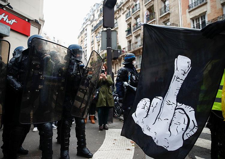 Violencia en las protestas en París contra la brutalidad policial
