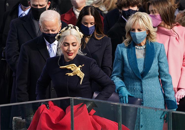 Lady Gaga, Garth Brooks y JLo iluminaron la emotiva ceremonia de juramento de Biden