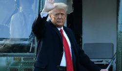 Trump sale de la Casa Blanca por última vez y…