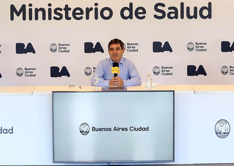 Quirós explicó el orden de prioridad para vacunarse en CABA