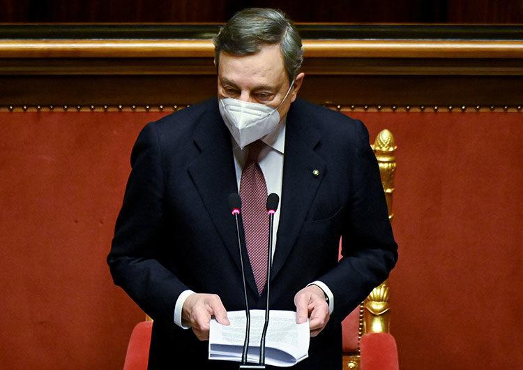 Draghi, el flamante primer ministro italiano, promete reformas radicales