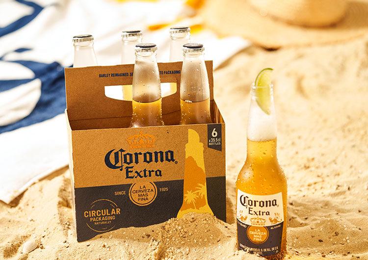 Cerveza Corona desarrolla un packaging sustentable elaborado con cebada