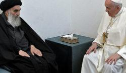 Papa Francisco se reunió en Irak con el gran ayatollah…