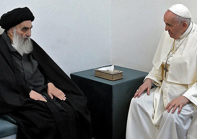 Papa Francisco se reunió en Irak con el gran ayatollah Ali al-Sistani