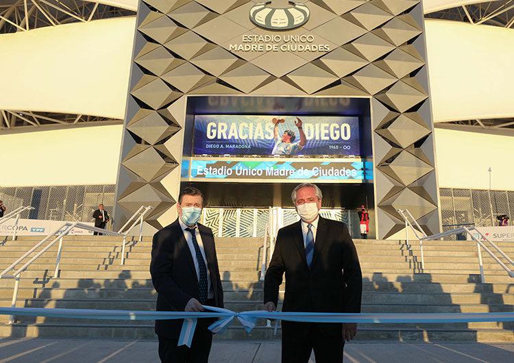 Fernández inauguró en Santiago del Estero el Estadio «Madre de Ciudades»