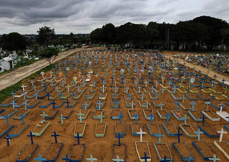 Brasil registró este martes por primera vez más de 4.000 muertos de covid-19 en 24 horas