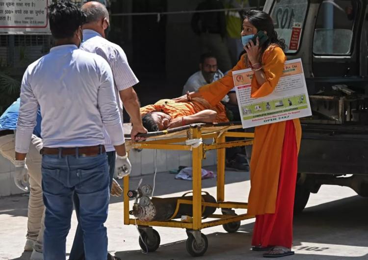 Crisis en India: 117 personas mueren cada hora a causa del covid-19
