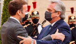 Fernández logró un fuerte apoyo de Macron para la Argentina:…